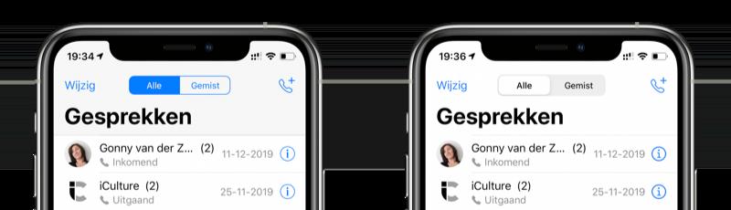 WhatsApp Gesprekken scherm.