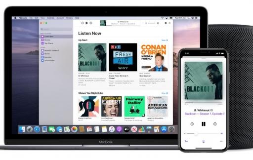 Podcasts-app op de Mac