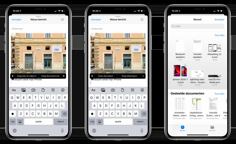 Bijlage toevoegen in de Mail-app