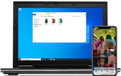 iCloud voor Windows op Windows 10.