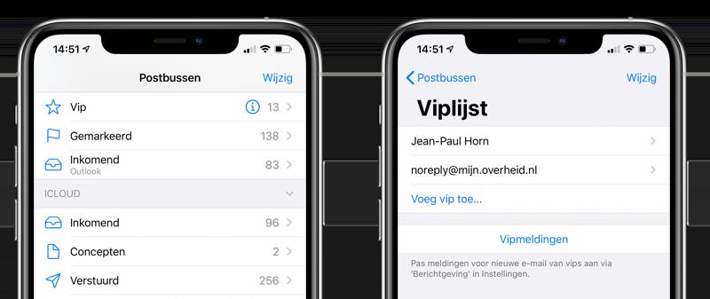 VIP-contacten in de Mail-app