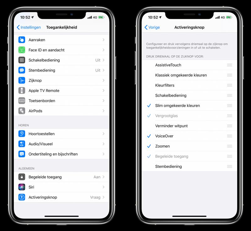 Activeringsknop inschakelen op iPhone