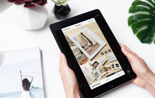 Instagram app op de iPad