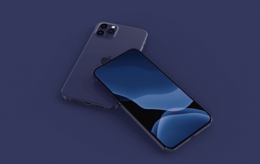 iPhone 12 Pro in blauw-paars.