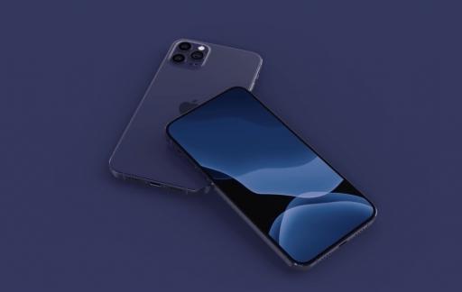 iPhone 12 Pro in blauw-paars.