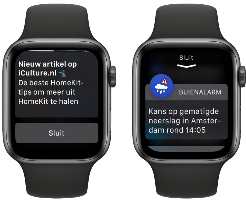 Notificaties sluiten Apple Watch