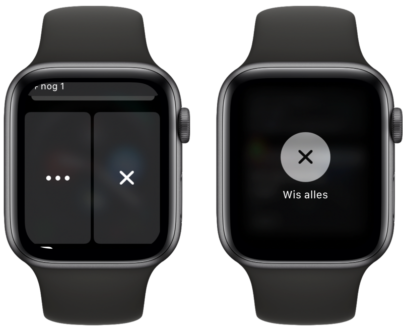 Notificaties wissen Apple Watch