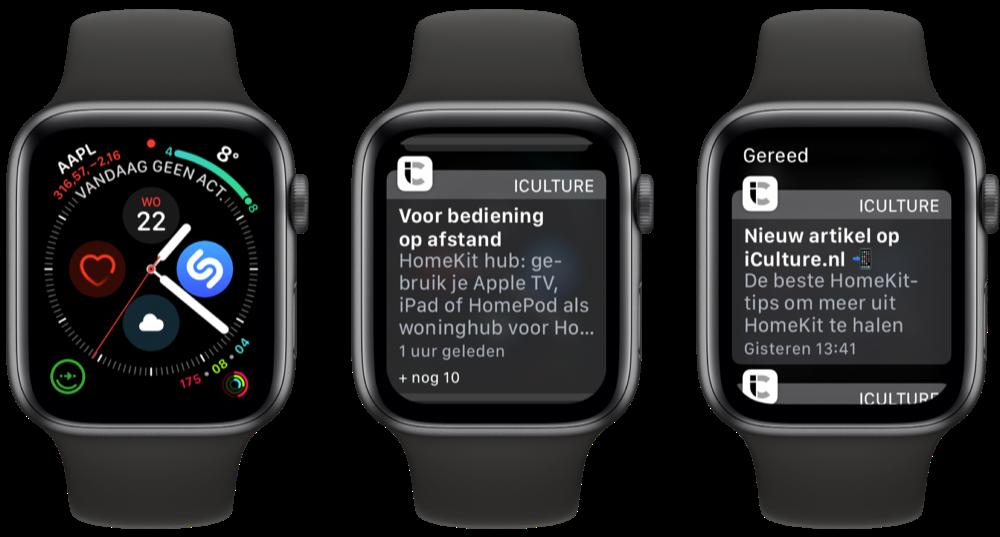 Berichtencentrum Apple Watch bekijken