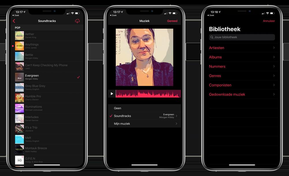 Clips app: muziek toevoegen