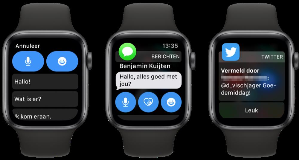 Interactieve meldingen Apple Watch
