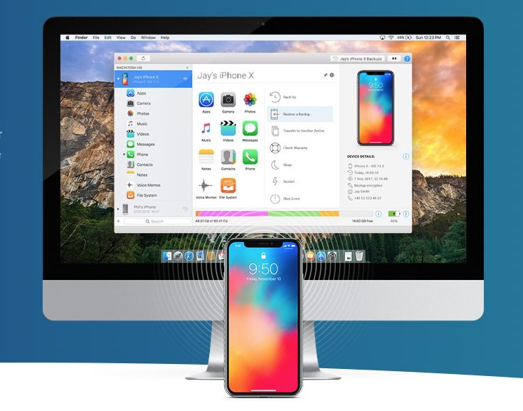 iPhone beheren vanaf de Mac