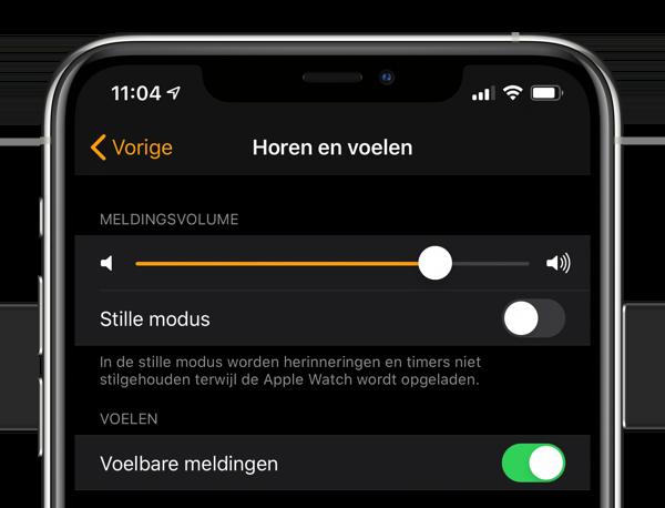 Horen en voelen instellen Apple Watch