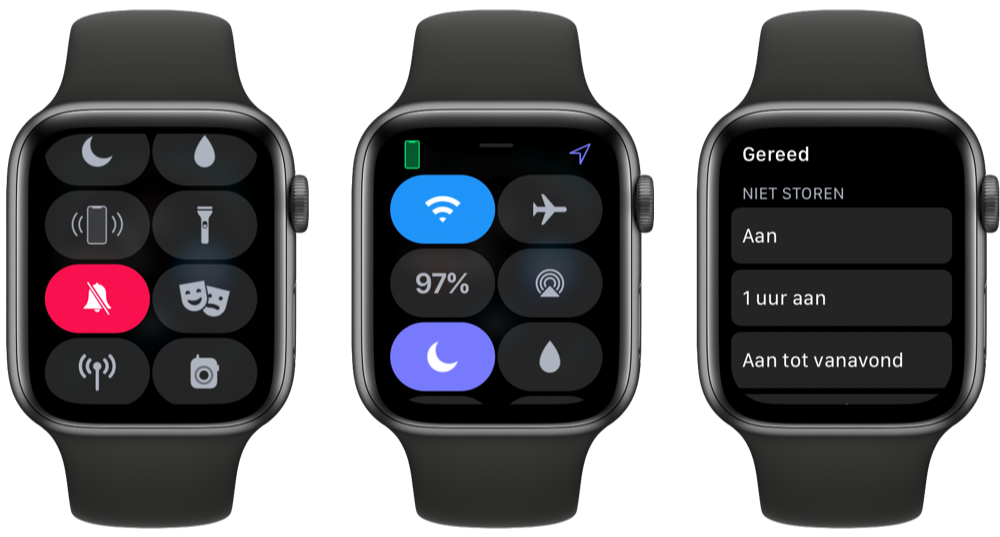 Niet storen en stille modus Apple Watch