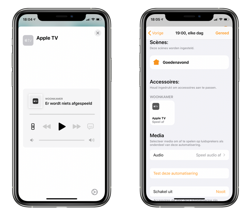 Apple TV in HomeKit automatiseren.