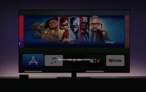 HomeKit op Apple TV met Siri.