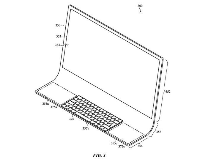 Patent iMac met gebogen glasplaat