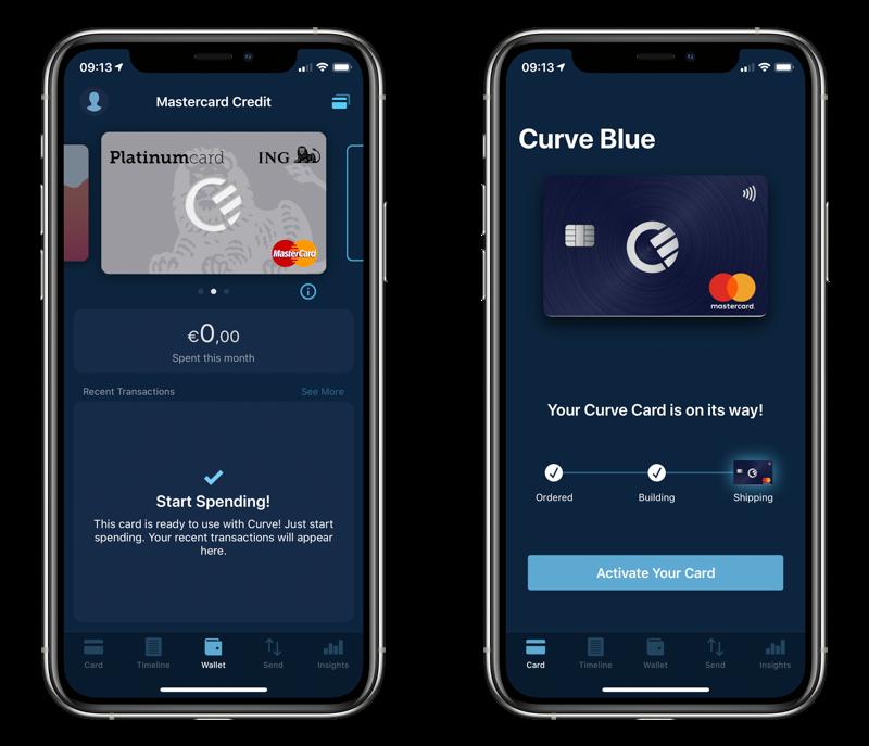 Curve creditcard.