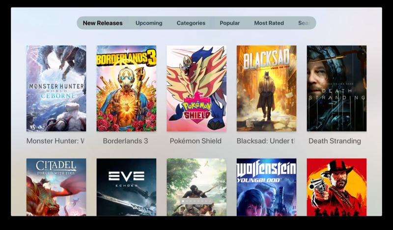 Best Game Trailers op Apple TV.