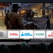 Best Game Trailers op Apple TV op beginscherm.