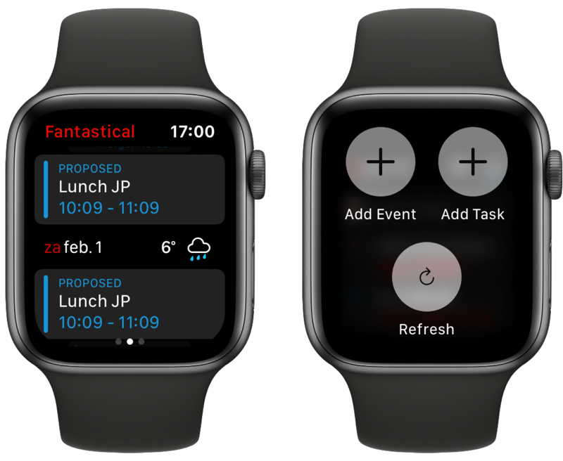 Fantastical 3 Apple Watch.
