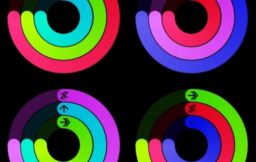 watchOS 7 concept met nieuwe ringen voor Activiteit.
