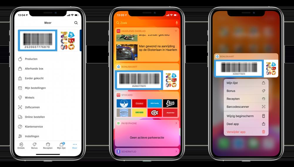 Albert Heijn Bonuskaart in de app.