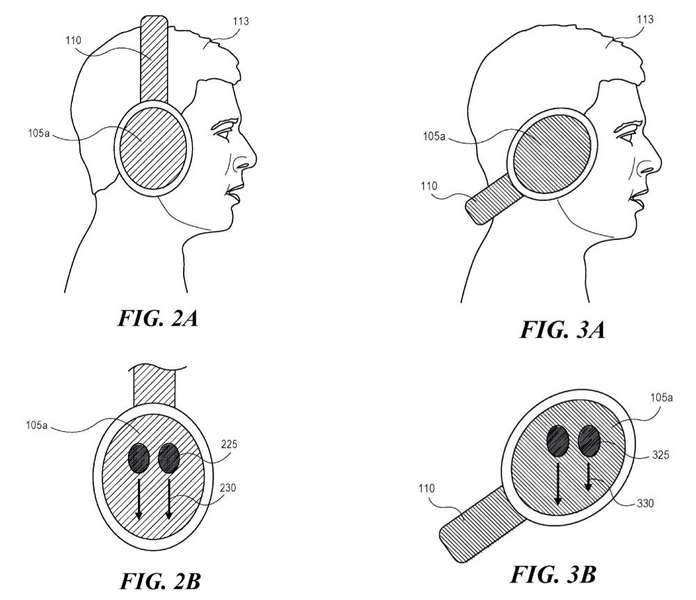 Patent van Apple hoofdtelefoon met veegbewegingen.