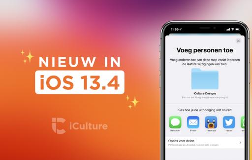 Nieuwe functies in iOS 13.4.