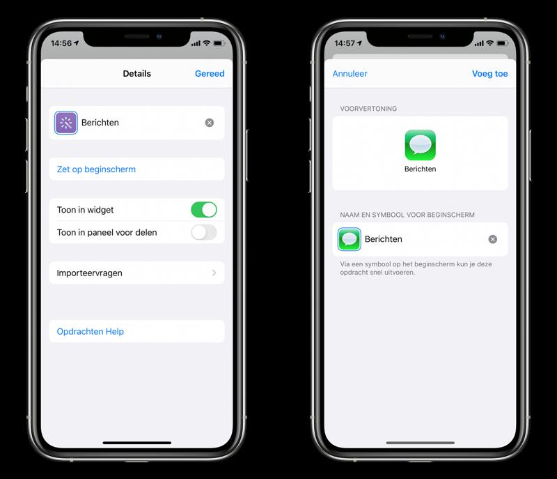 Opdrachten-app: Berichten met oud icoontje.