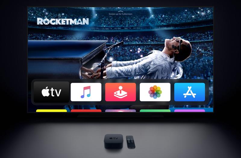 Apple TV met scherm