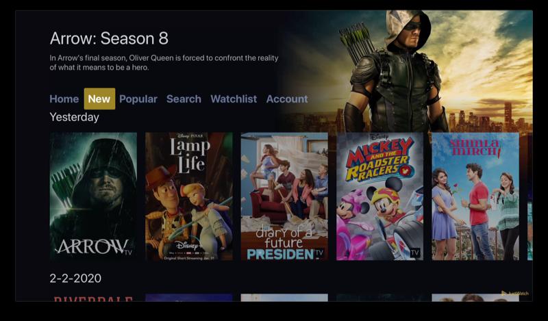 JustWatch op Apple TV met New aanbod.