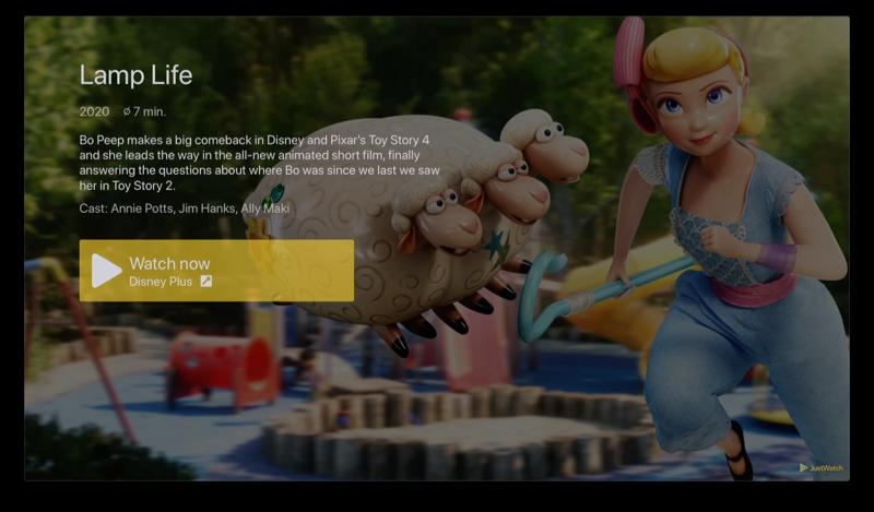 JustWatch op Apple TV: serie kijken.