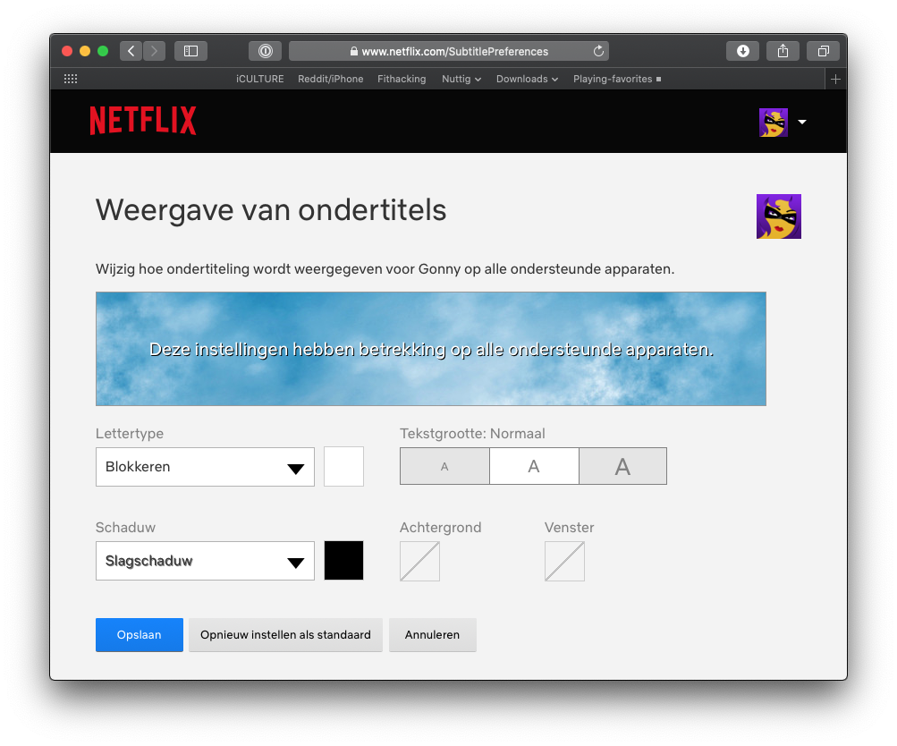 Netflix ondertitels instellen