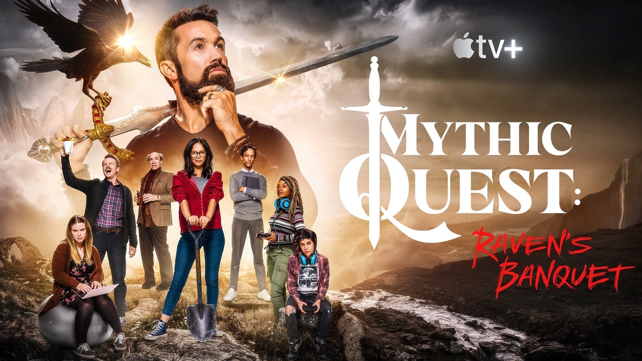 Mythic Quest Ravens Banquet op Apple TV Plus.