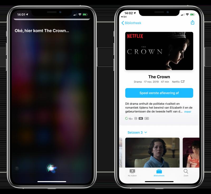 Netflix starten met Siri