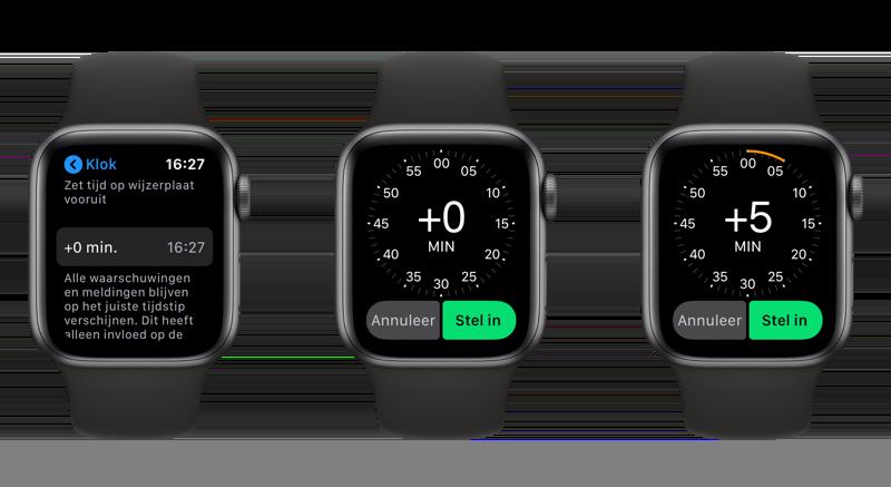 Apple Watch tijd vooruit