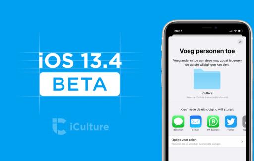iOS 13.4 Beta nieuw.