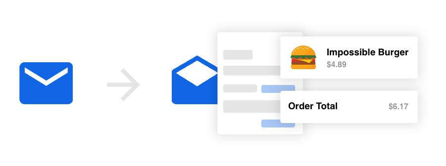 Privacy van Edison e-mail app.