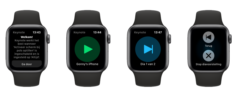 Keynote op de Apple Watch