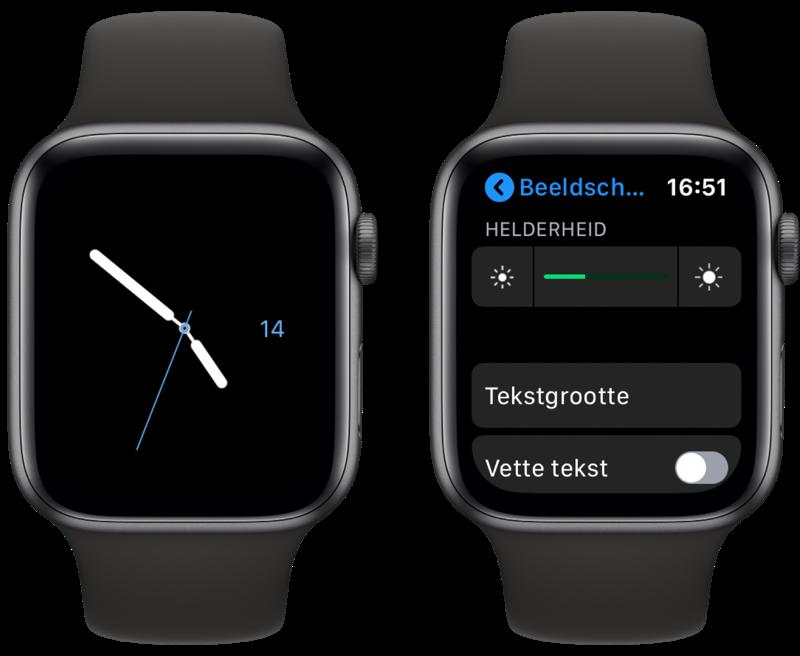 Apple Watch batterijduur verlengen met wijzerplaat en instellingen.