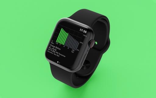 Battery Grapher op Apple Watch.