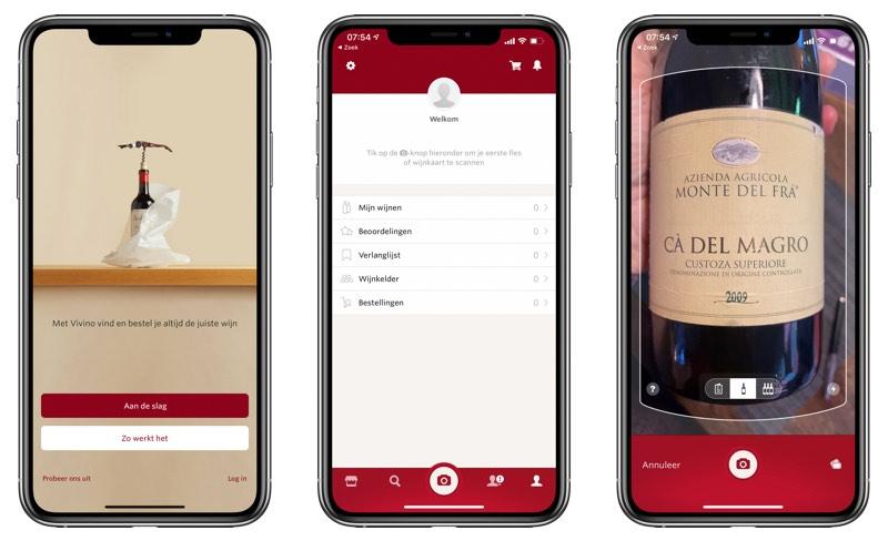 Wijnfles scannen Vivino