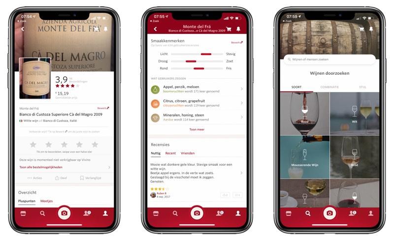 Wijnen zoeken met Vivino