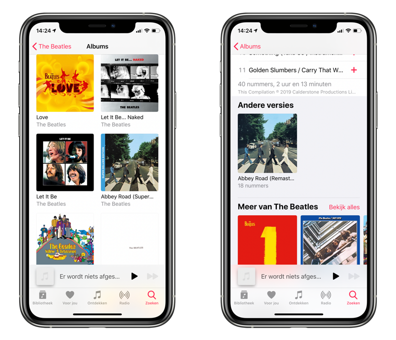 Alternatieve albums in Apple Music.