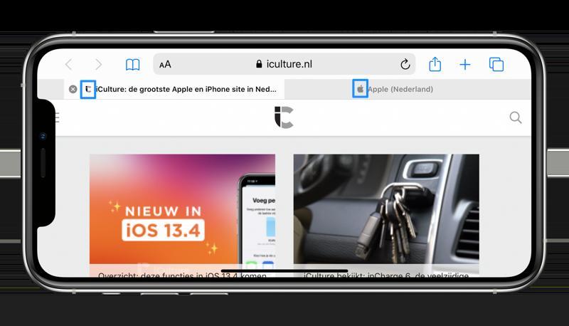 Safari favicons op iPhone bekijken.