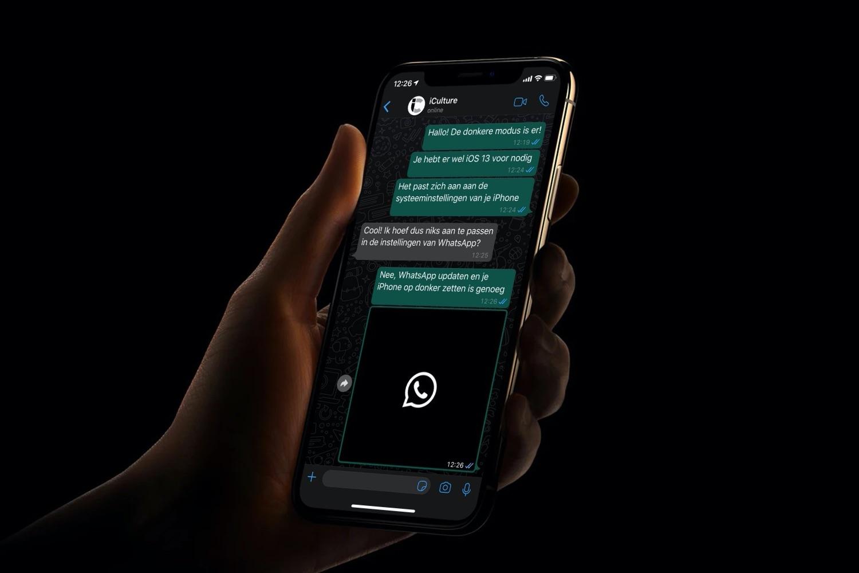 WhatsApp dark mode voor iOS.