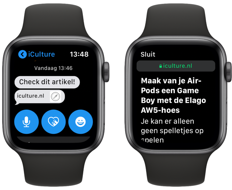 Apple Watch internet: website bekijken.