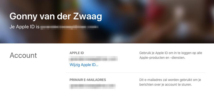 Apple ID wijzigen