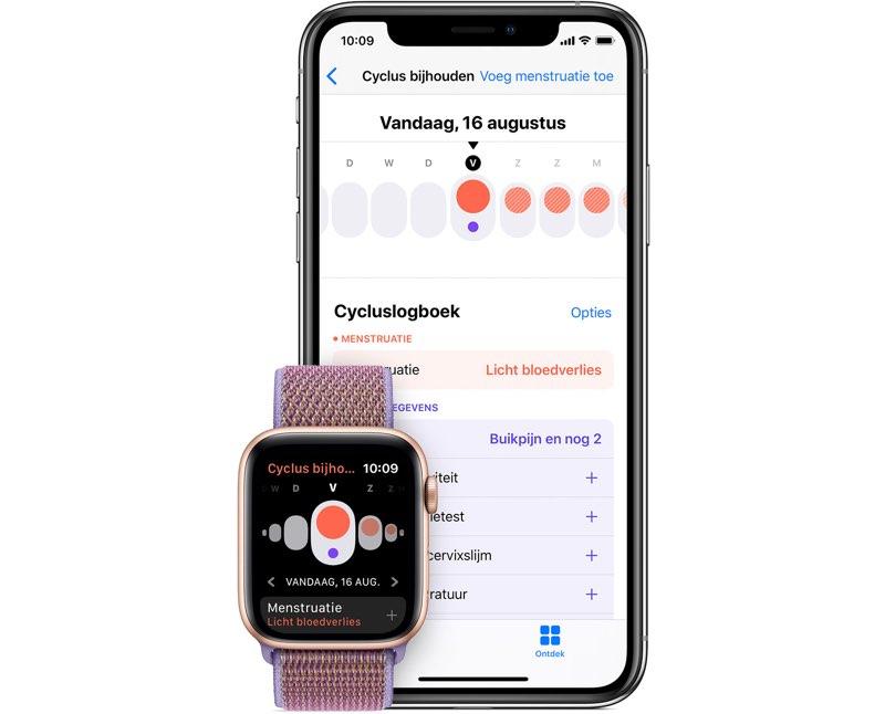 Cyclus bijhouden op iPhone en Apple Watch