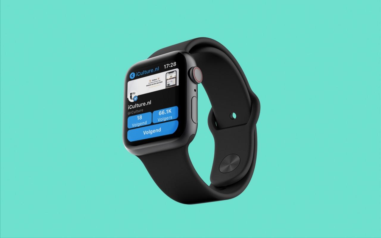 Social Media apps op Apple Watch.